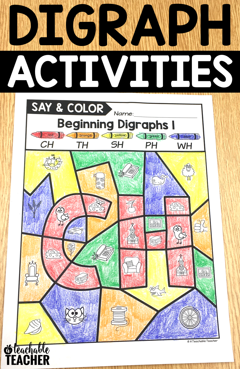 hight resolution of Digraph Activities - Letter