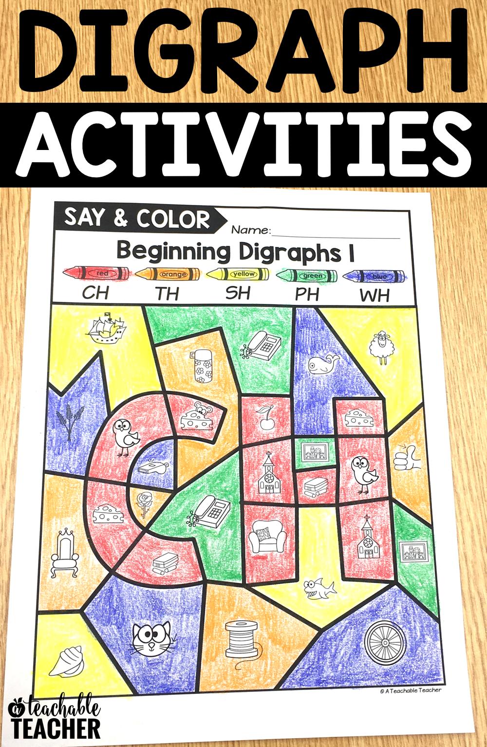 Digraph Activities - Letter [ 1534 x 1000 Pixel ]
