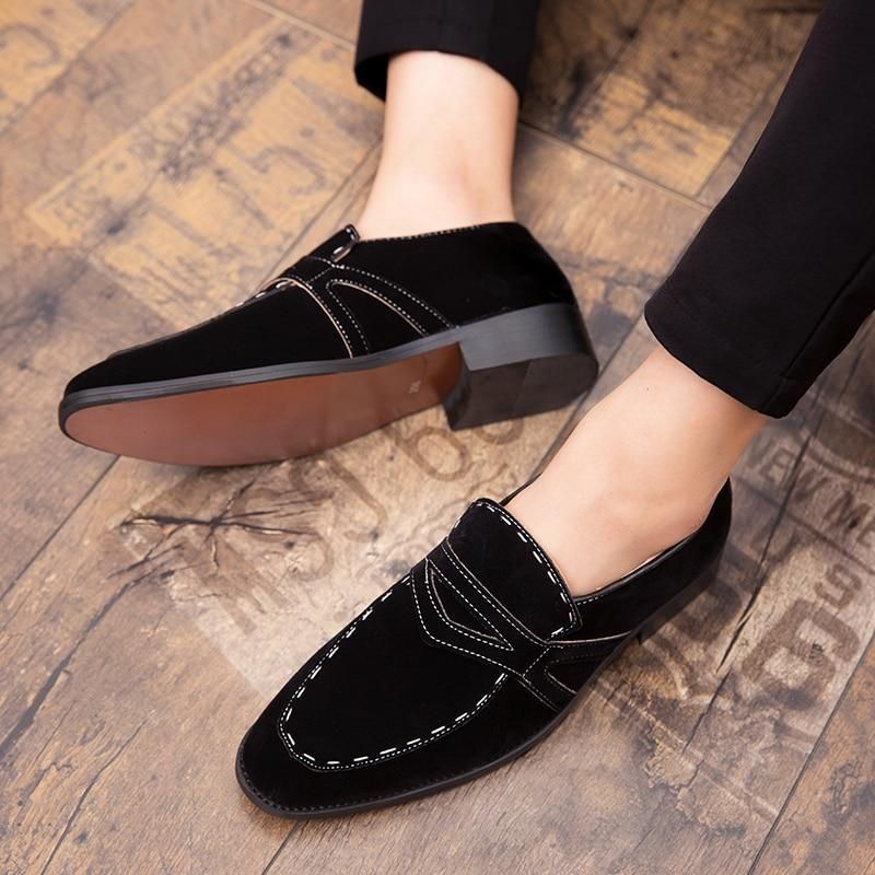 Size 38 47 Suede Men Loafers Italian Finishing Mens Oxford Shoes British Gentleman Formal Flats Loafers Men Oxford Shoes Men Brogues Men