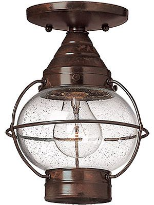 Cape cod flush ceiling light with clear seedy glass house of antique hardware · outdoor ceiling lightsceiling lightinghallway