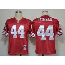 Mitchell And Ness 49ers  44 Tom Rathman Red Stitched Throwback NFL Jersey 2bcc72d0d