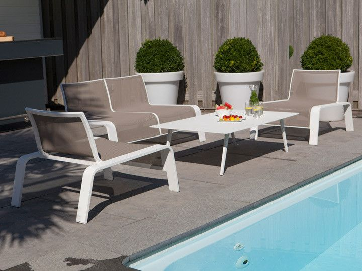 lounge set block wit | tuinmeubel collectie | life outdoor living ... - Garten Lounge Gunstig