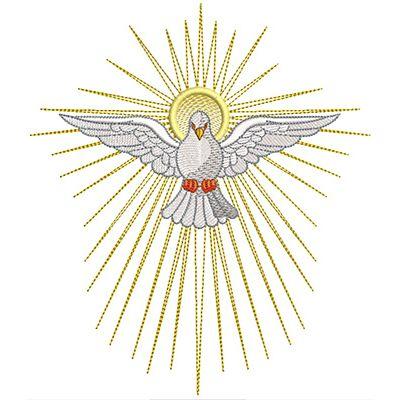 Divino Espirito Santo 19 Cm Arte De Crista Dons Do Espirito Santo