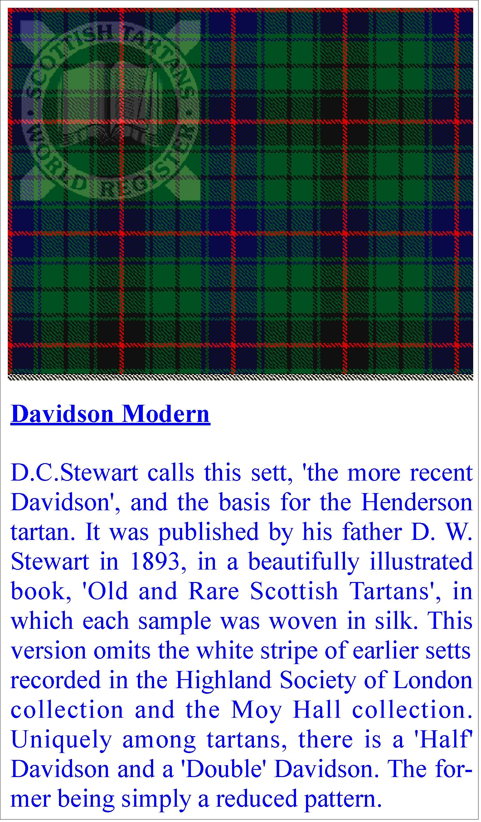 Clan Davidson Davis Tartan Places I Want To Visit