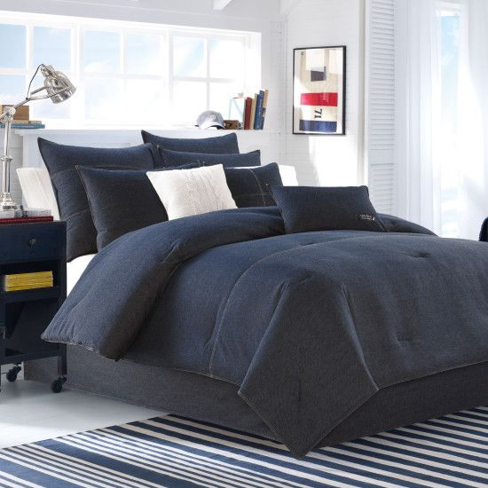 Seaward Full/Queen Comforter Set - Naval Blue | Nautica