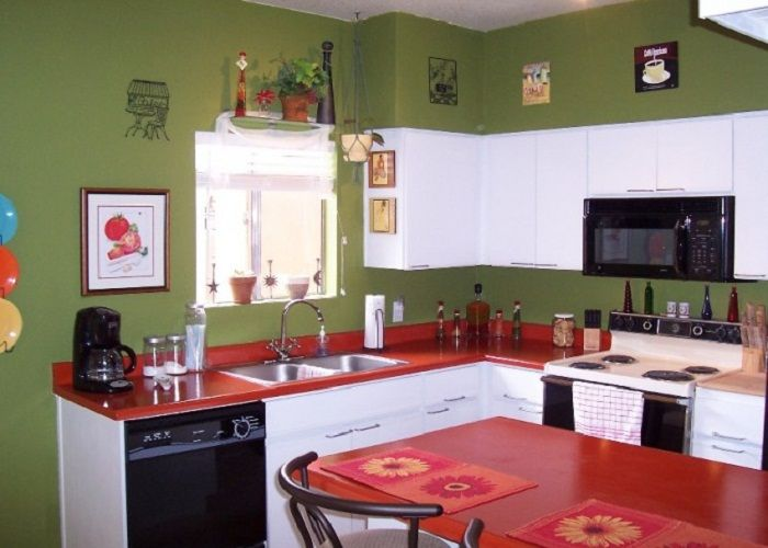 Hand Painted Kitchen Design Ideas ~ Hand painted kitchen countertops with red colors http