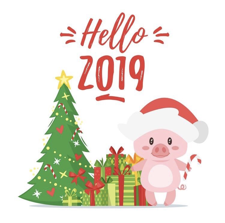 piggy merry christmas and happy new year merry christmas card christmas greeting cards