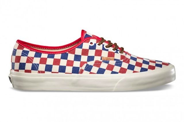Vans Authentic California « Red & Blue Checker » – Fall 2013