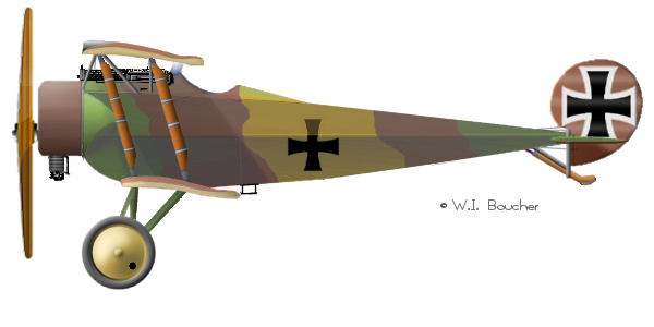 Fokker D.II s/n D540/16, Kissenberg 1916