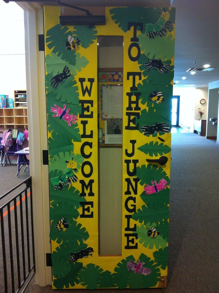 Classroom Door Decoration Ideas Welcome Back : Classroom door decorations bulletin board ideas jungle