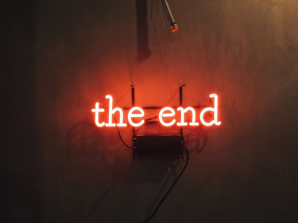 Love The End Wallpaper : The end red aesthetic tumblr Pinterest Neon, Red aesthetic and Oc