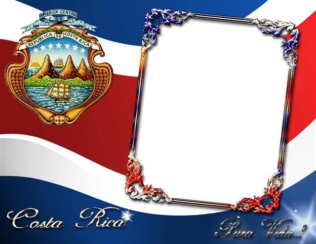 Marco digital con la bandera y escudo de Costa Rica - Frames ...
