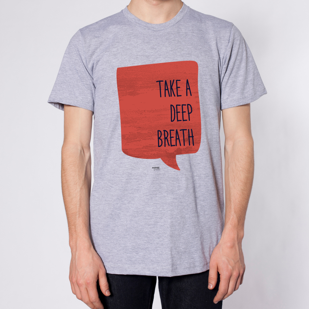 Take A Deep Breath Men Short Sleeve T-Shirt - Heather Grey