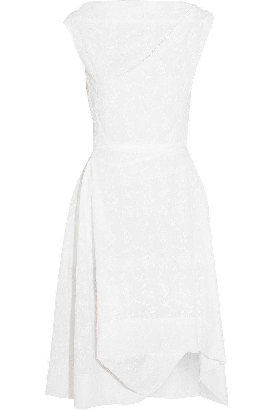 White Aztec Embroidered Cotton Dress Vivienne Westwood Anglomania Cotton Dresses Dresses Vivienne Westwood Anglomania [ 1380 x 920 Pixel ]