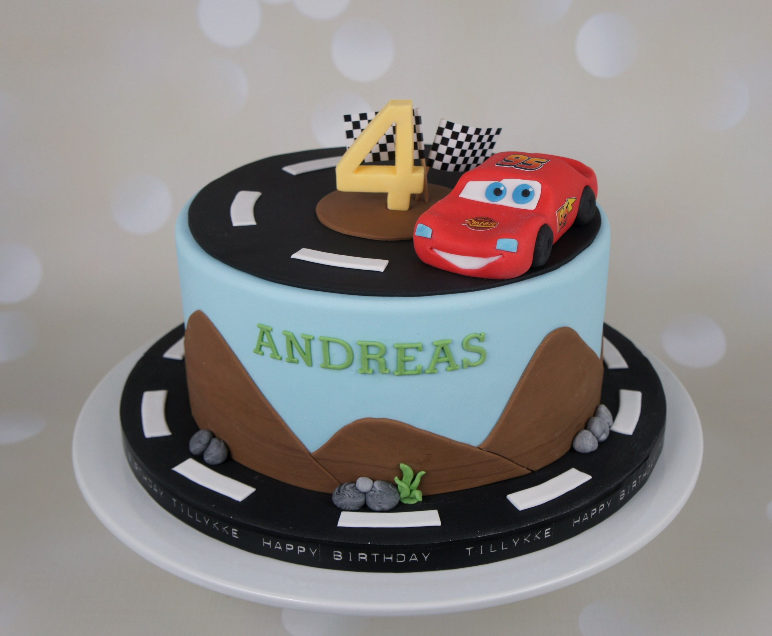 McQueen Car birthday cake Fdselsdagskage Cars birthday