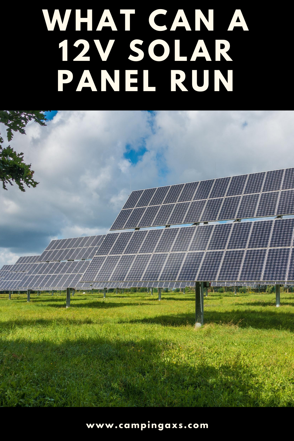 What Will A 12v Solar Panel Run Campingaxs Com In 2020 12v Solar Panel Solar Panels Solar