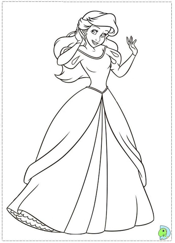Coloriage La Petite Sirene 1 ċoʟoya Mye Disney Disney