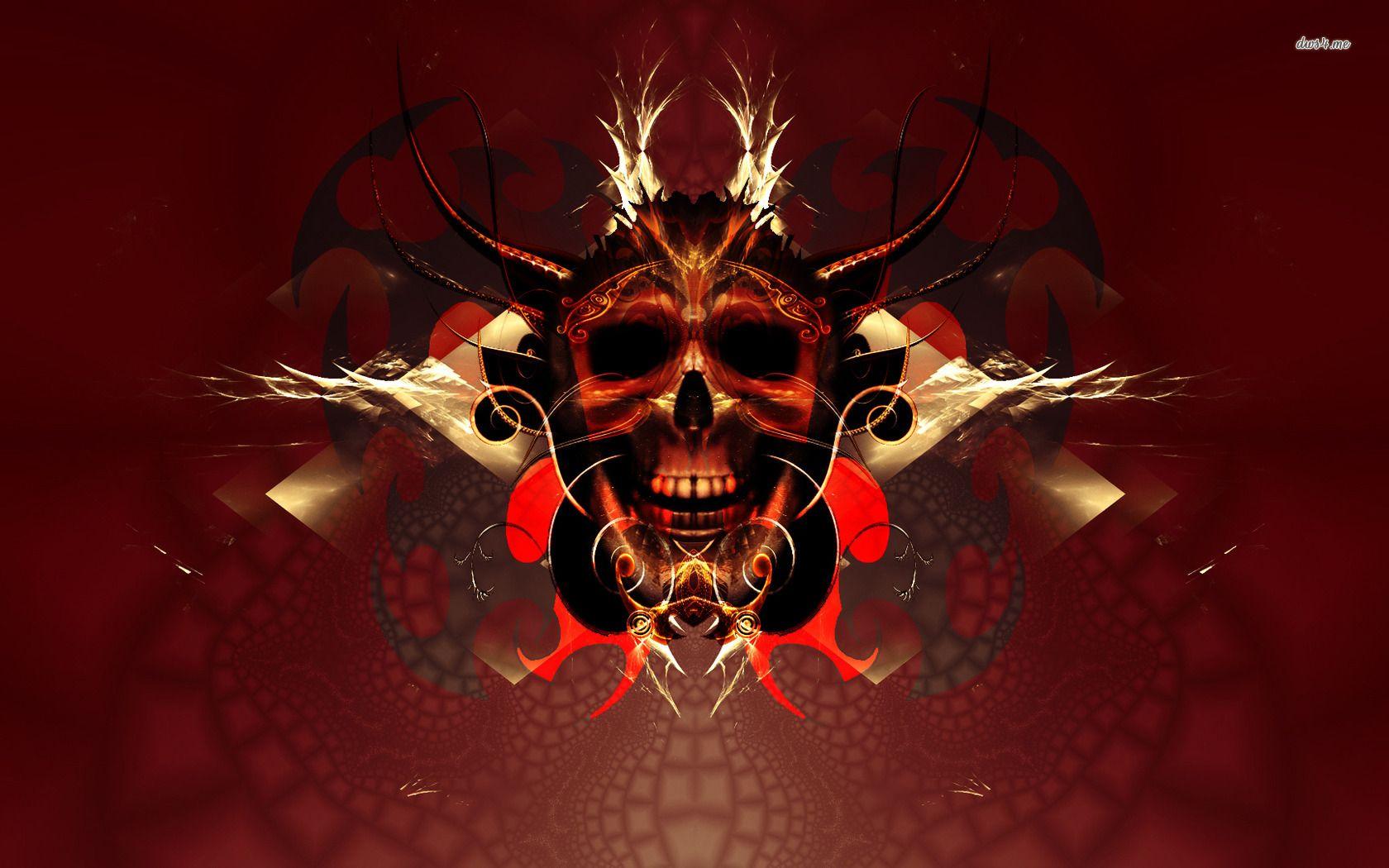 Red Skull Wallpaper Image Cool Punk Wallpaper For Guys