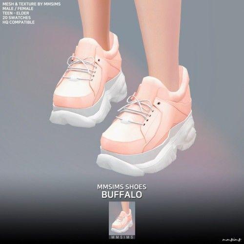 Buffalo Sneakers By Mmsims For The Sims 4 Roupas Sims Calcados Novos Sims