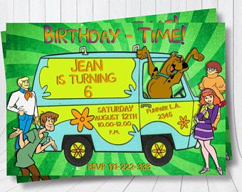 Scooby doo invitation Scooby doo birthday invitation Scooby doo