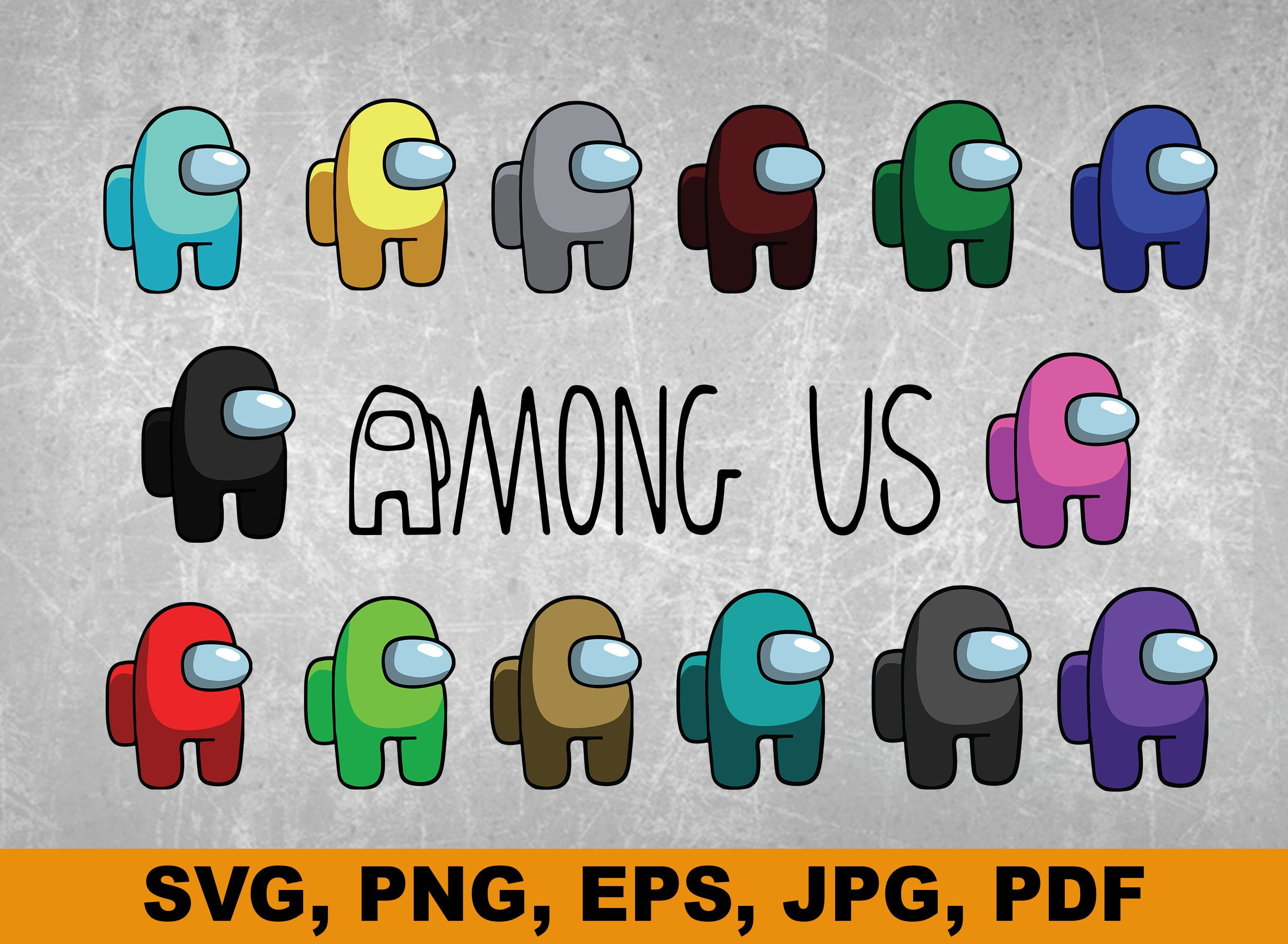 Among Us SVG Bundle Among Us Vector SVG Among Us Game Svg