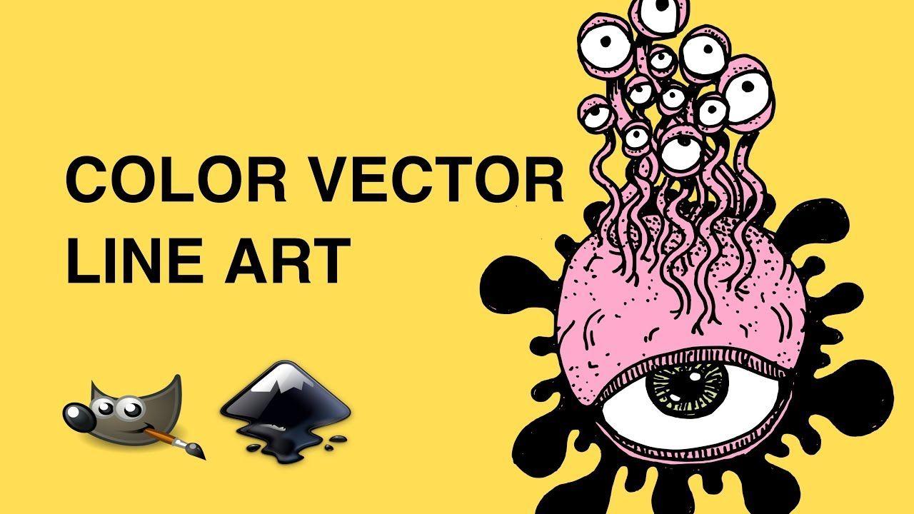 Coloring Line Art With Inkscape Line Art Color Color Vector