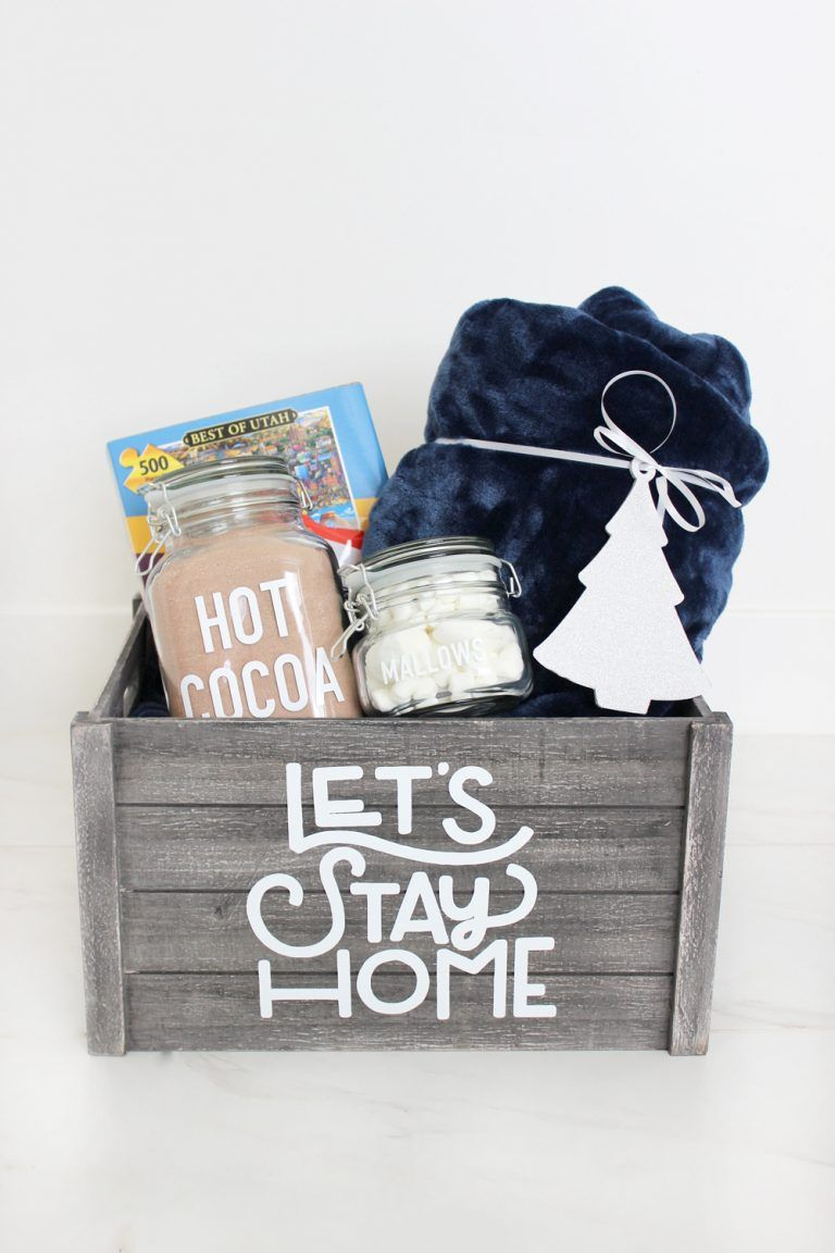 Easy Personalized Night In Gift Basket Idea