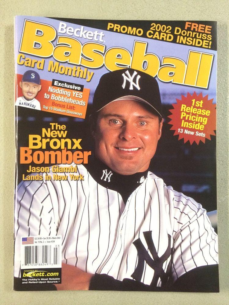 Jason Giambi Yankees Beckett Baseball Price Guide