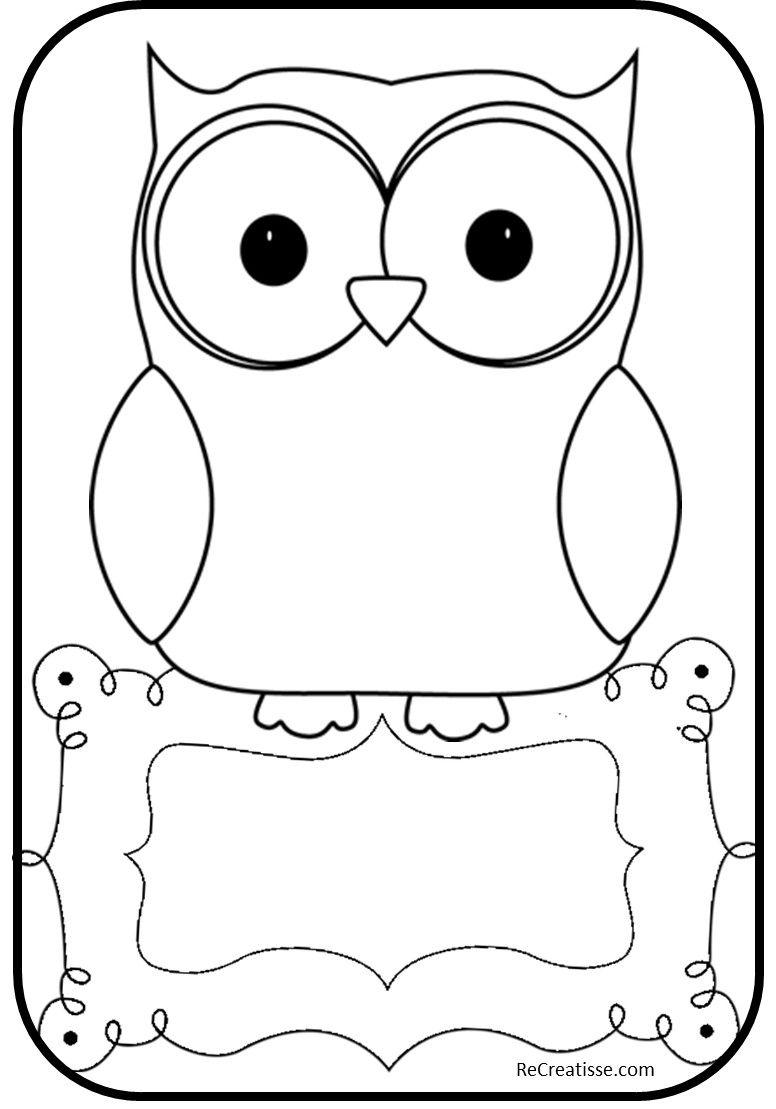 Organisation rentr e 2014 hibou owl clip art owl - Hibou a colorier ...