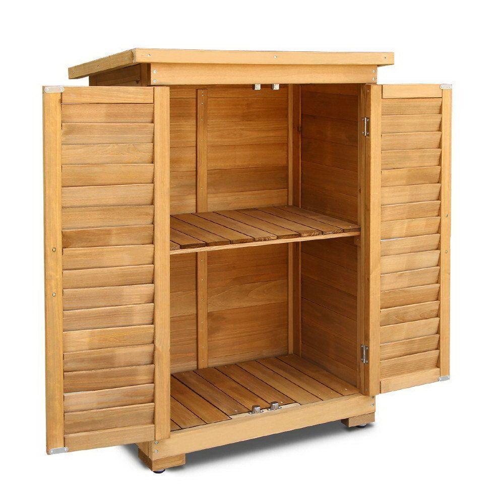 Gardeon Portable Wooden Garden Storage Cabinet Ebay Outdoor Storage Cabinet Garden Storage Cabinet Wooden Garden Storage