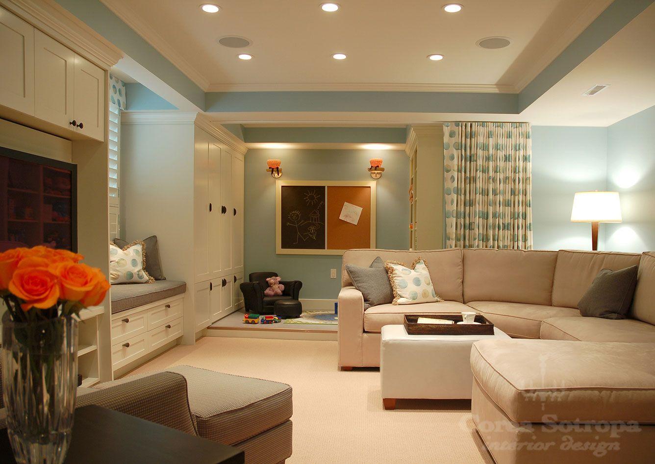 fresh feeling basement Basement decor, Living room designs