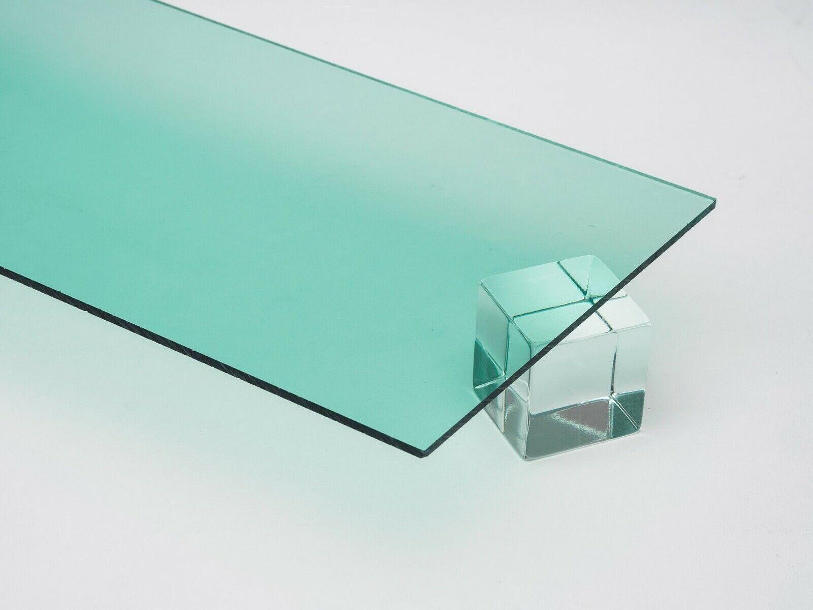 Acrylic Sheet 1 4 Clear Glass Effect Green Edge Etsy In 2020 Acrylic Sheets Clear Glass Colored Acrylic Sheets