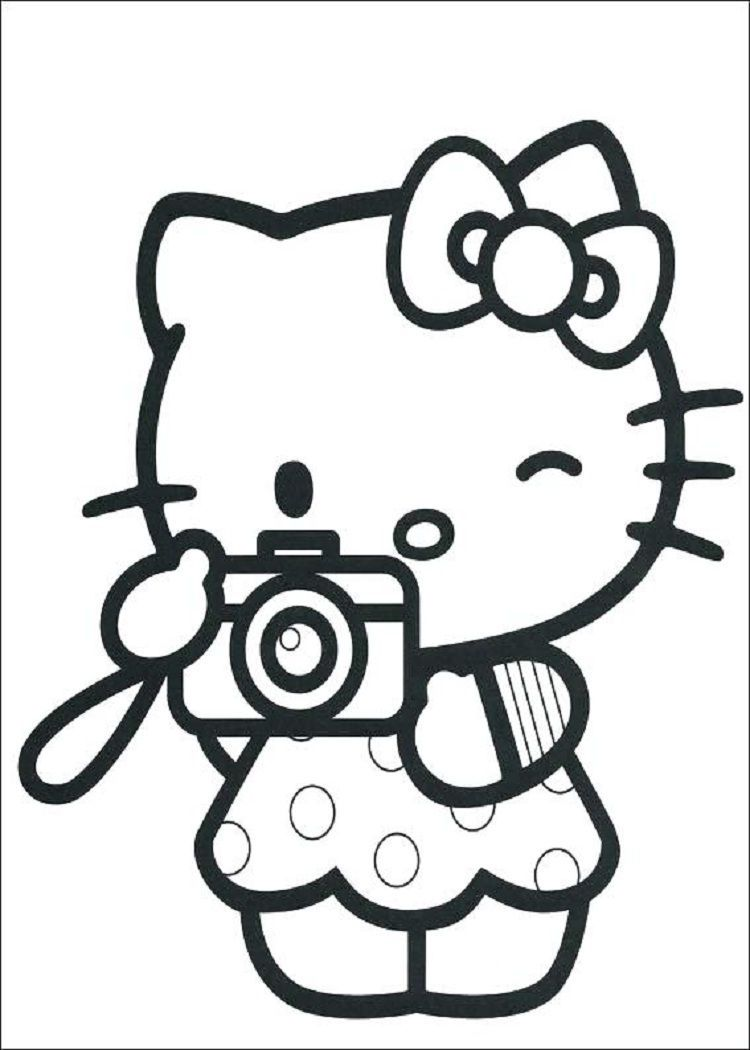 Hello Kitty Coloring Pages Full Size in 10  Hello kitty