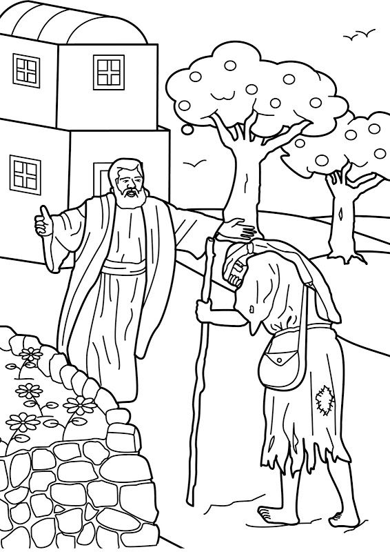 為孩子們的著色頁 The Prodigal Son Coloring Pages God S Promises