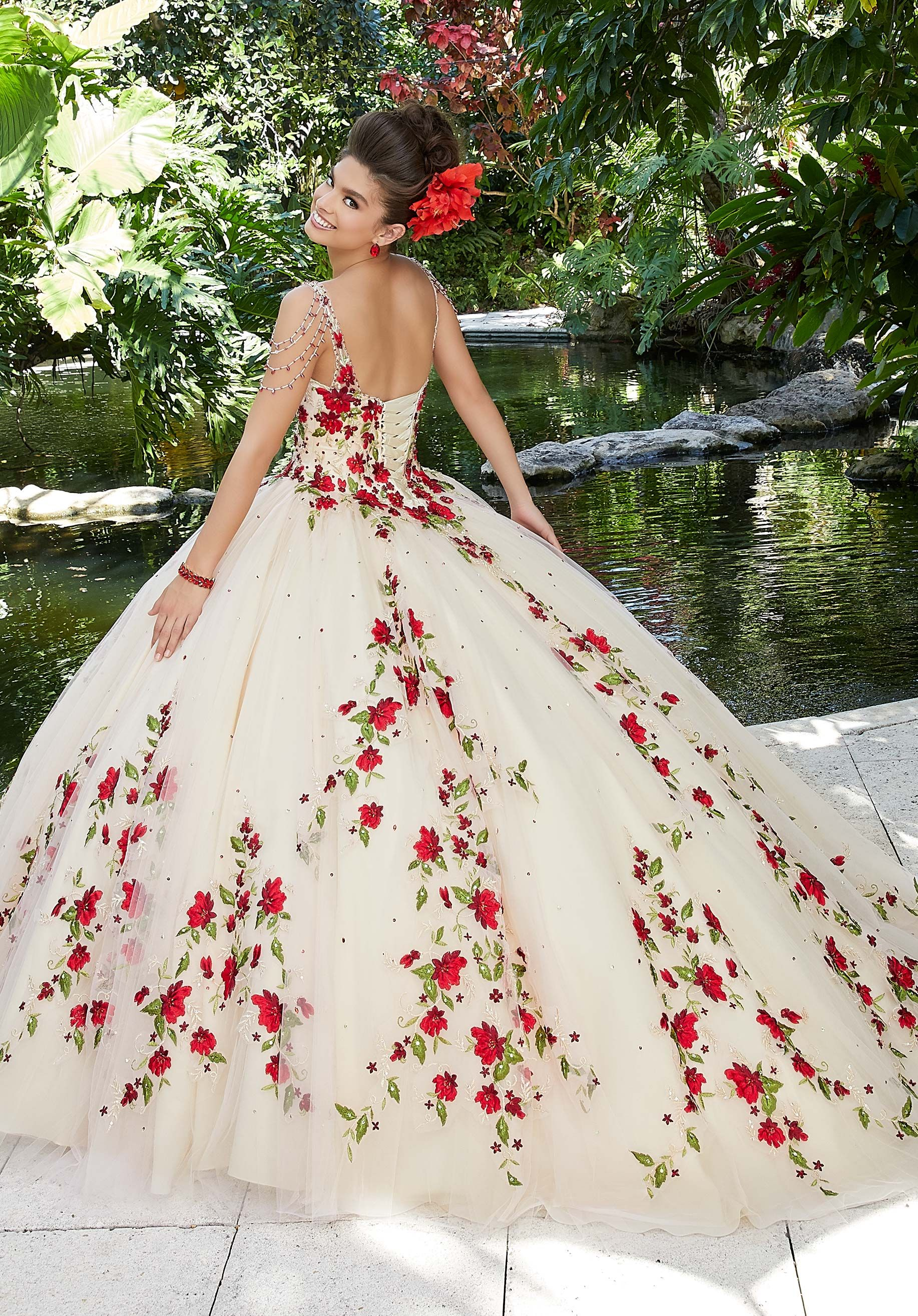 Floral Embroidered Quinceañera Dress by Morilee 34
