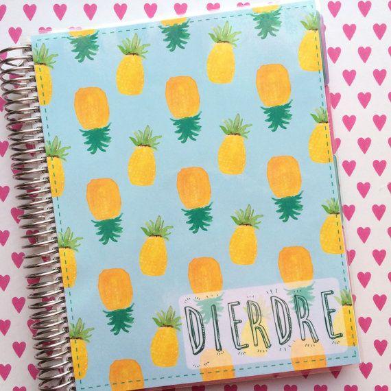 Erin Condren Cover, Plum Paper Cover, ECLP Custom Cover, Personalized Erin Condren Life Planner Cover, Pineapple Erin Condren Cover  * you can