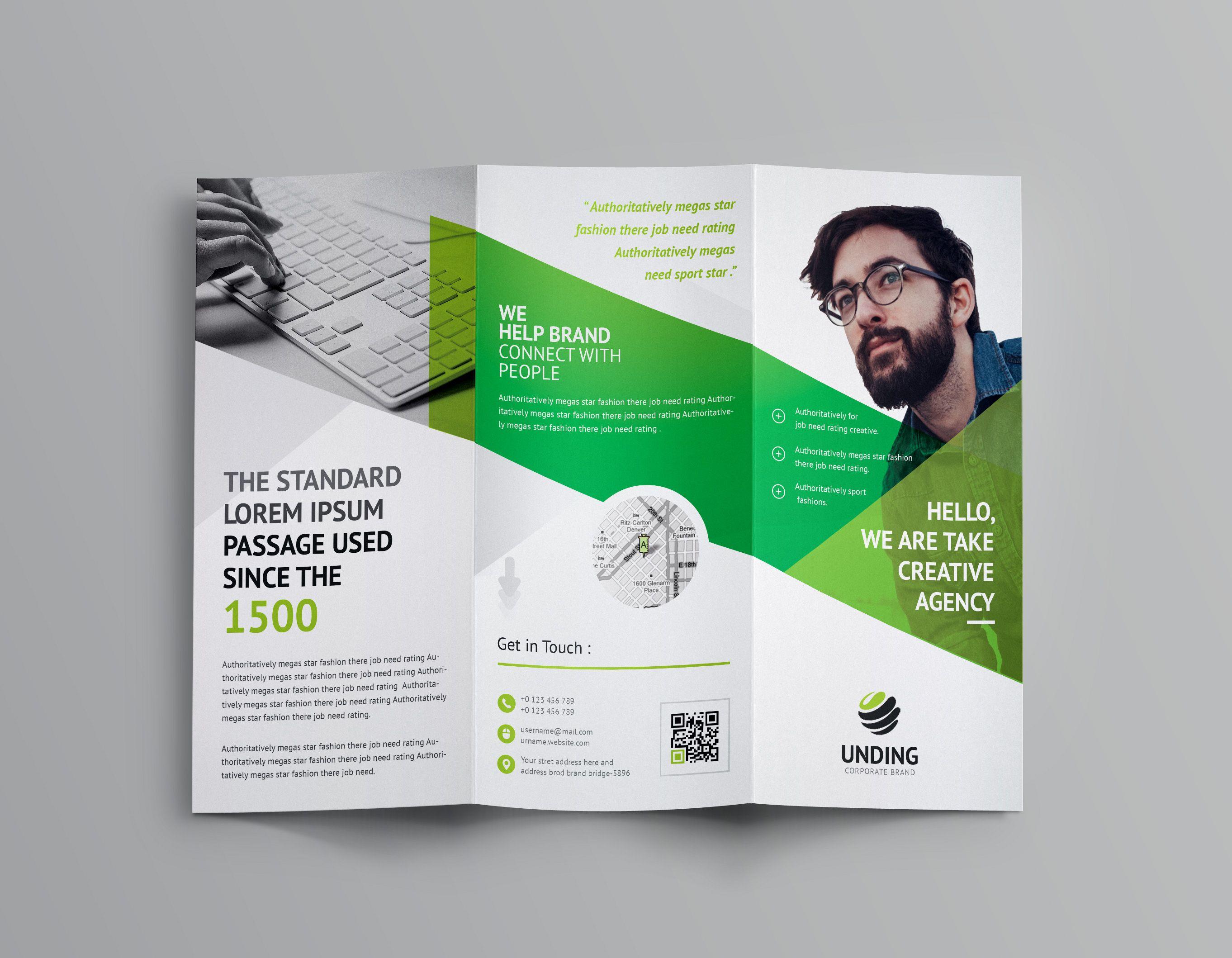 Cerberus Corporate Tri Fold Brochure Template Graphic Templates Trifold Brochure Template Brochure Template Trifold Brochure Psd tri fold brochure template
