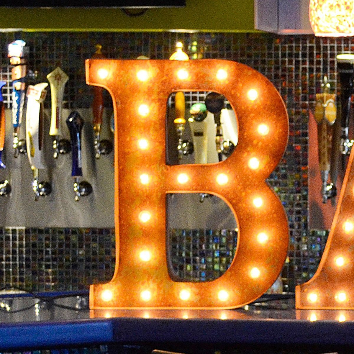 24 Letter B Lighted Vintage Marquee Letters Rustic Lighted