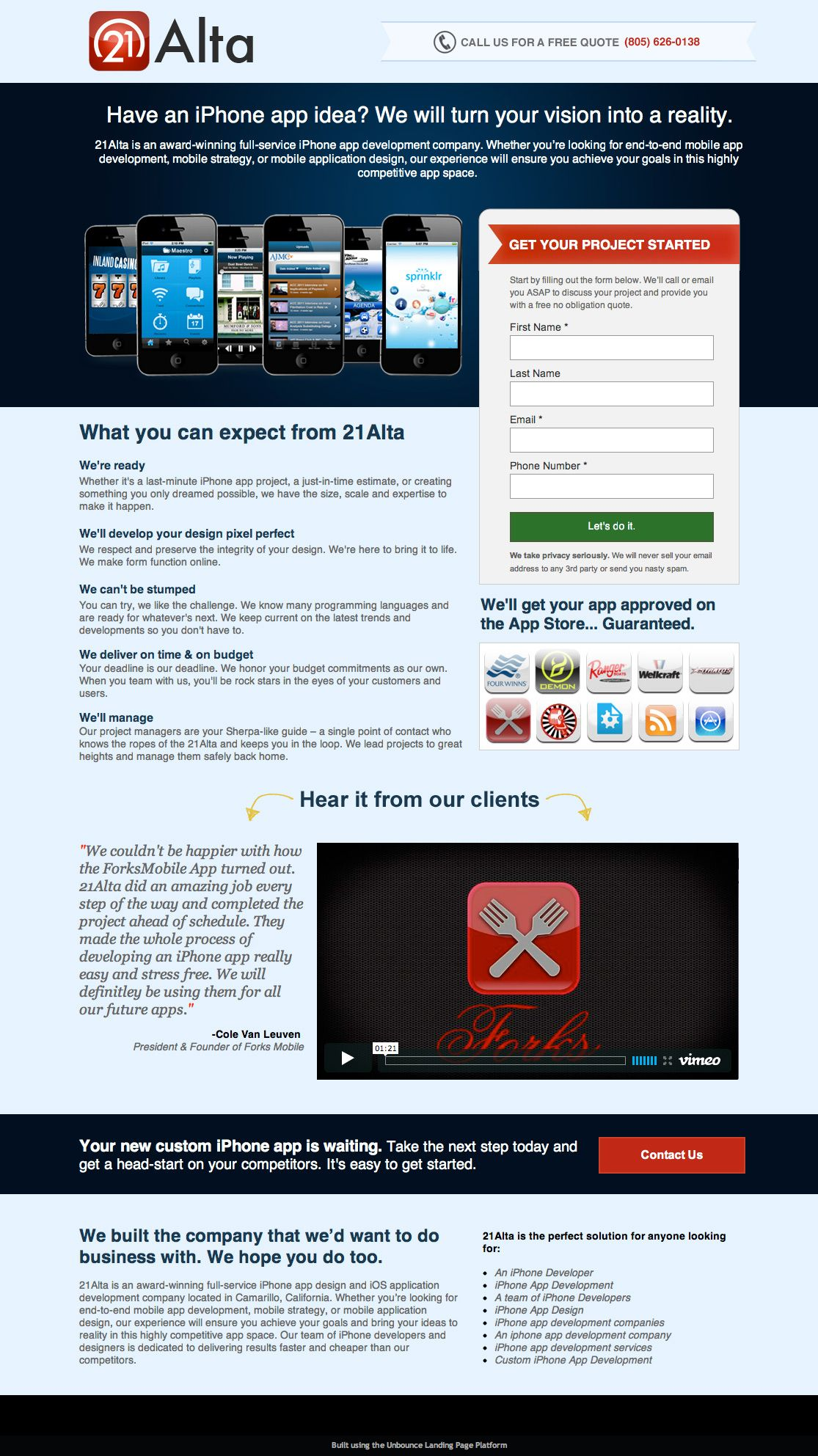 Iphone App Development Email Sign Up Form Landing Page Landing Page Examples Iphone App Development