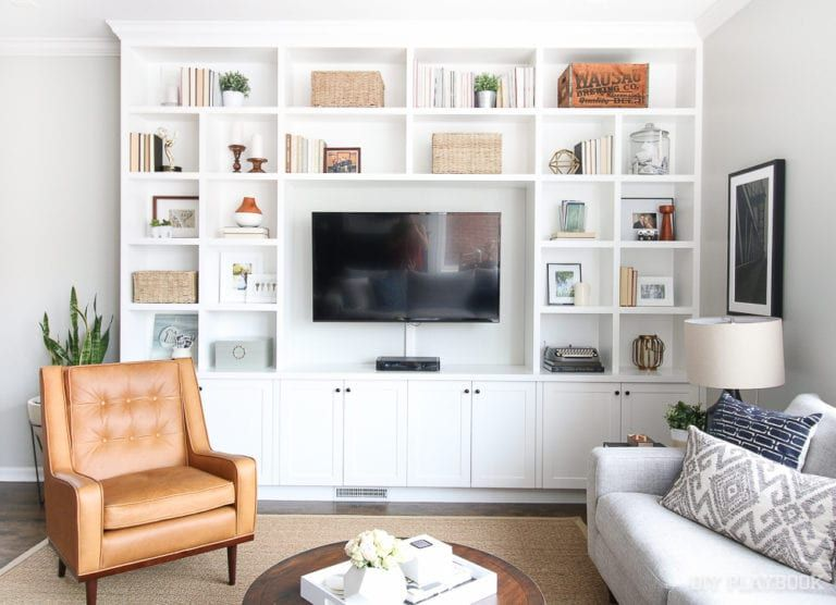 Photo of Family Room Built-Ins: Custom For The Wall | The DIY Playbook