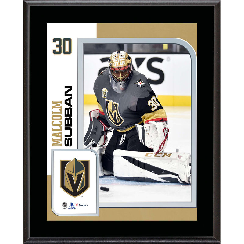 Malcolm Subban Vegas Golden Knights Fanatics Authentic 10 5 X 13