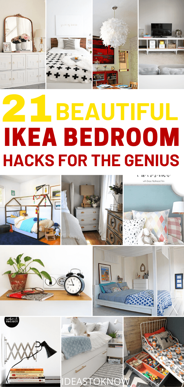 21 beautiful ikea bedroom hacks for the genius. The chosen ikea hacks for bedroom that you should not miss out, especially the ikea fans. #ikea #bedroomhacks #homedecor #ikeahacks