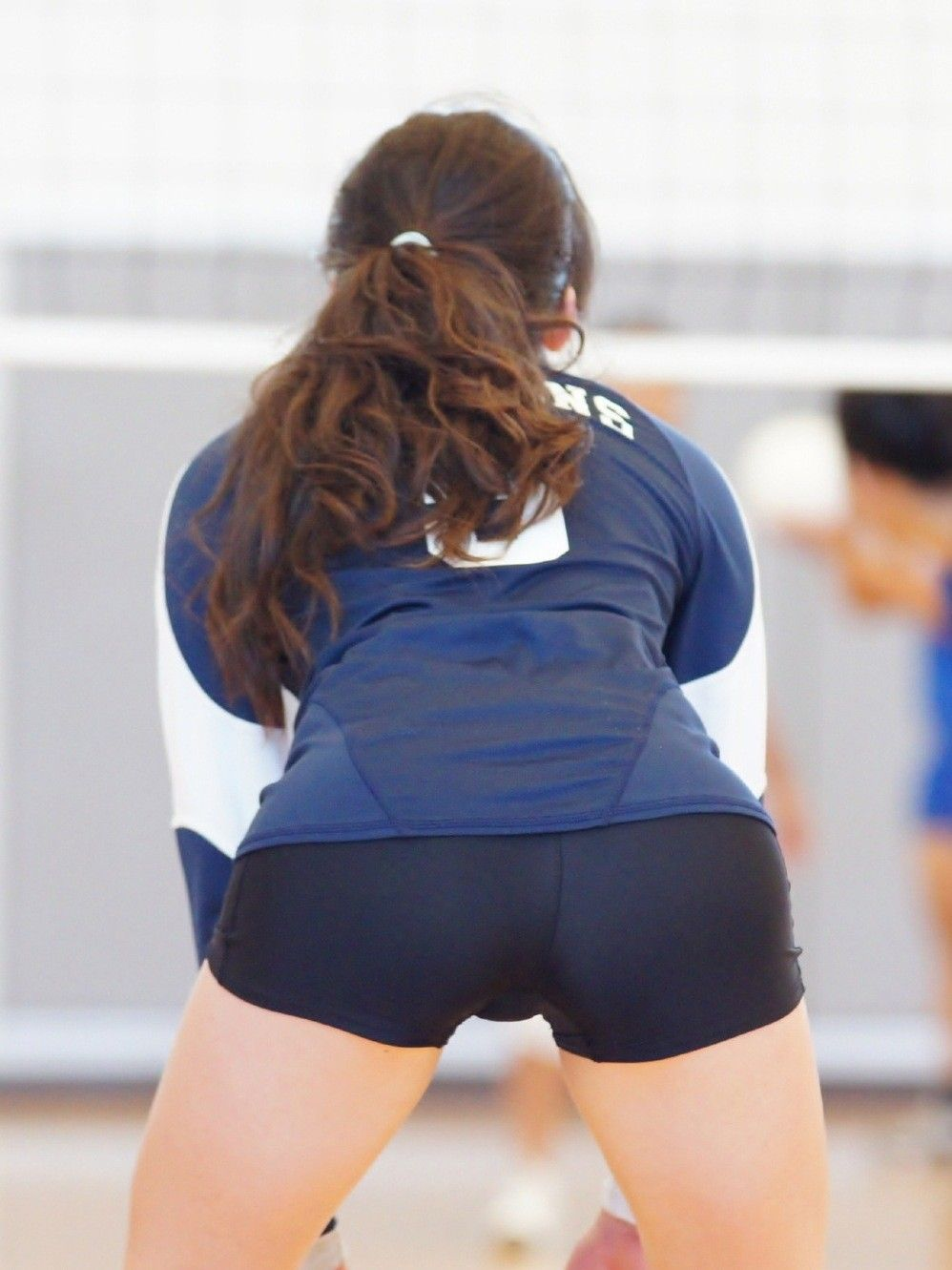 Skin Tight Female Athletes Women Volleyball Sporty Girls