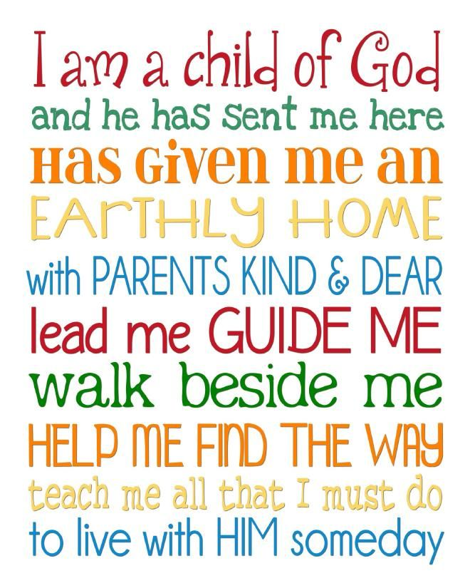 I Am A Child Of God Free Printable My Computer Is Canvas