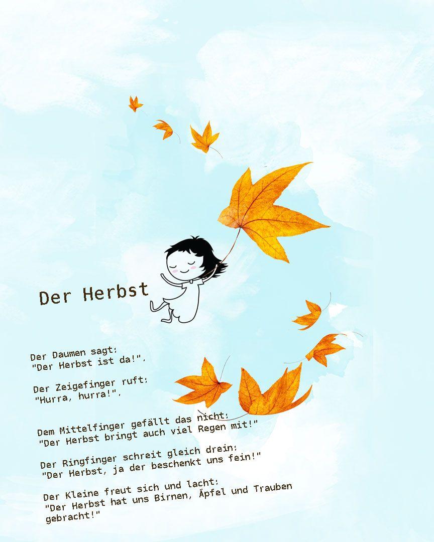 Herbst gedichte pinterest for Basteln herbst kindergarten
