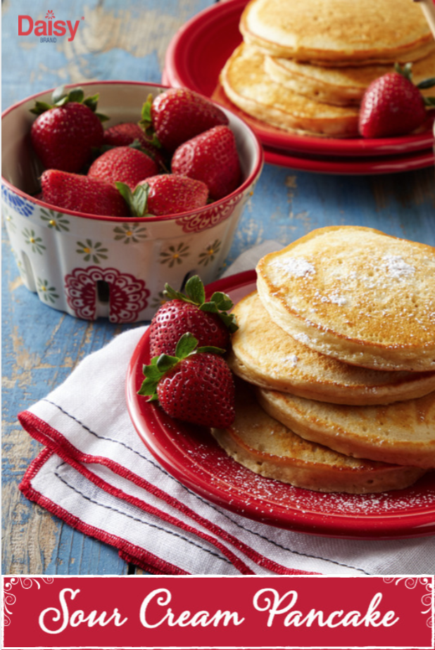 Daisy Sour Cream Pancakes Recipe Sour Cream Pancakes Daisy Sour Cream Breakfast Dishes