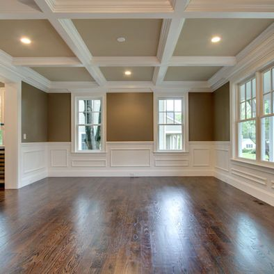 Boston traditional dining photos dinning room coffered for Coffered ceiling paint ideas