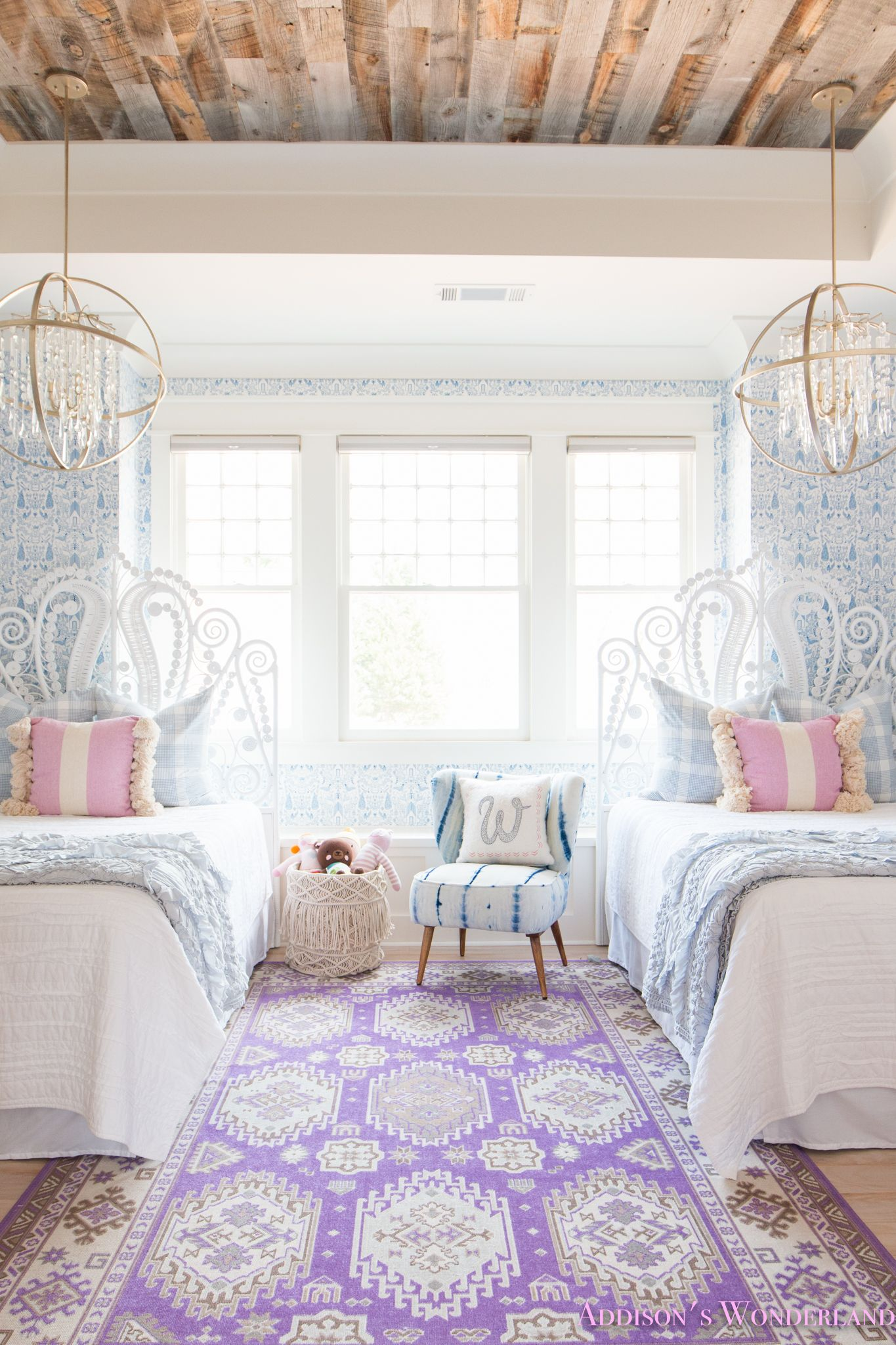 my sweet winnie's blue and white little girl's bedroom