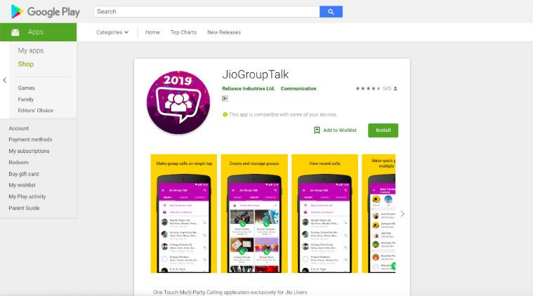 The Reliance Jio Group Talk App on Android Launched for Conference