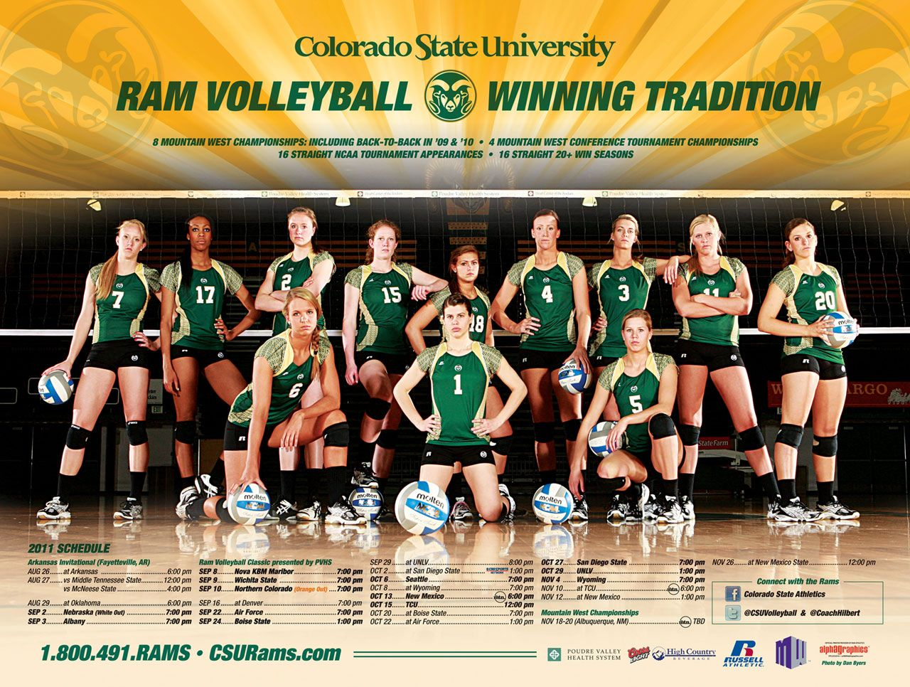 Http Grfx Cstv Com Schools Csu Graphics Wallpaper 11 Csu Volleyball Poster2 1280 Jpg Team Photography Volleyball Posters Sports Photos